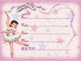 Ballerina Invitations for Birthday Ballerina Birthday Invitations Ideas Bagvania Free