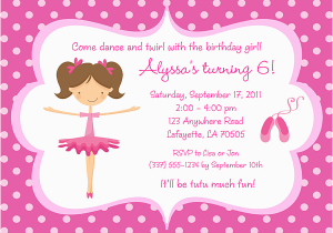 Ballerina Invitations For Birthday Ideas Bagvania Free
