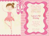 Ballerina Invitations for Birthday Brave Peppa Pig Ballerina Party Invitations According
