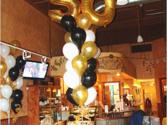 Balloon Decorations For 50th Birthday Balloons Party