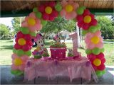 Balloon Decorations for Baby Birthday Baby Minnie First Birthday Cake Table Decoration Flower