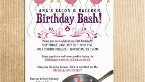 Balloon themed Birthday Party Invitations Balloon themed Birthday Party Invitations Cobypic Com