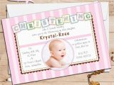 Baptism and Birthday Party Invitations Birthday Invitations 1st Birthday Baptism Invitations
