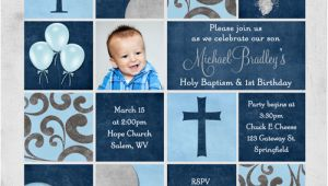 Baptism And Birthday Party Invitations