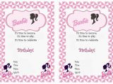 Barbie Birthday Invitation Card Free Printable Barbie Birthday Invitations Birthday Printable