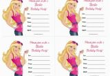 Barbie Birthday Invitation Card Free Printable Barbie Birthday Invitations Free Printable