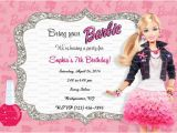 Barbie Birthday Invitation Card Free Printable Items Similar to Custom Barbie Fashionista Birthday