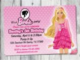 Barbie Birthday Invites Barbie Birthday Invitation Printable Doll by Partyprintouts
