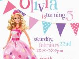 Barbie Birthday Invites Barbie Birthday Invitations Free Ideas Natalies Invitations