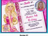Barbie Birthday Invites Barbie Birthday Invitations Modern Designs Invitations
