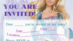 Barbie Birthday Invites Barbie Birthday Invitations Template Best Template