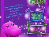 Barney Birthday Card Barney Birthday Printable Invitation Cards Trials Ireland
