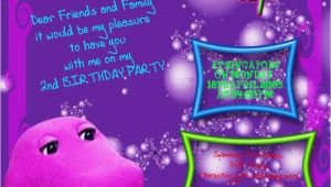 Barney Birthday Card Barney Birthday Printable Invitation Cards Trials Ireland