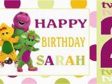 Barney Birthday Card Barney Friends Birthday Banner Personalized Custom
