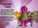 Barney Birthday Card Barney Thank You Card Jpg