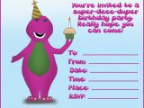 Barney Birthday Card How to Create Birthday Invitations and Cards 1st