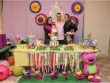 Barney Birthday Decorations Barney and butterfly Birthday Party Ideas Photo 5 Of 8