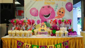 Barney Birthday Decorations Barney Birthday theme Firefly Inspired