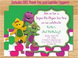 Barney Birthday Invitations Free Barney Birthday Invitation Barney Invitation by Mybabiesbreath