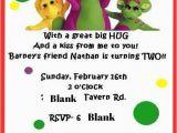 Barney Birthday Invitations Free Barney Birthday Invitation Nathan 39 S Barney Birthday