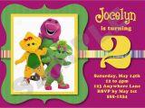 Barney Birthday Invitations Free Barney Birthday Invitations Best Party Ideas
