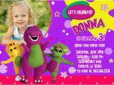 Barney Birthday Invitations Free Barney Birthday Invitations Ideas Bagvania Free