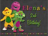 Barney Birthday Invitations Free Chalkboard Barney Birthday Party Invitations