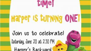 Barney Birthday Invitations Free Free Printable Barney Birthday Party Invitations Home