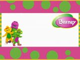 Barney Birthday Invitations Free Free Printable Barney the Dinosaur Invitation Template