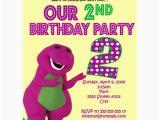 Barney Birthday Invitations Free Number Barney Birthday Invitations Personalized Invites