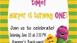 Barney Birthday Party Invitations Free Printable Barney Birthday Party Invitations Home