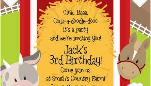 Barnyard themed Birthday Invitations Best 25 Farm Party Invitations Ideas On Pinterest Farm