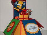 Bart Simpson Birthday Card Bart Simpson Happy Birthday 3d Handmade Pop Up Greeting Card