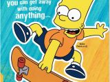 Bart Simpson Birthday Card Bart Simpson Nephew Birthday Card the Simpsons New Gift Ebay