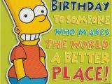 Bart Simpson Birthday Card Grandson Happy Birthday Bart Simpson Ebay