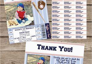 Baseball 1st Birthday Invitations Baseball 1st Birthday Invitation Package Printable
