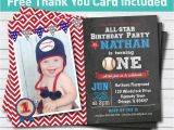 Baseball 1st Birthday Invitations Baseball Birthday Invitation Baby Boy First 1st Birthday