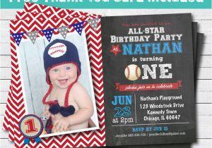 Baseball 1st Birthday Invitations Baseball Birthday Invitation Baby Boy First 1st Birthday
