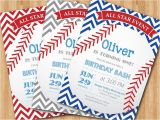 Baseball 1st Birthday Invitations Baseball Birthday Invitation First Birthday Baby Boy Chevron
