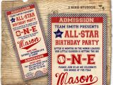 Baseball 1st Birthday Invitations Baseball Birthday Invitation First Birthday by 2birdstudios