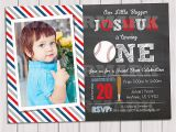 Baseball 1st Birthday Invitations Baseball Invitation 1st Birthday Birthday Party Invitation