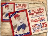 Baseball 1st Birthday Invitations Baseball Invitation Baseball Birthday Party Invitation