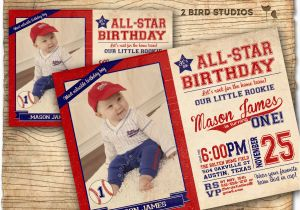 Baseball 1st Birthday Invitations Baseball Invitation Baseball Birthday Party Invitation