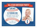 Baseball 1st Birthday Invitations Boys Baseball Sports 1st Birthday Party Invitation Zazzle