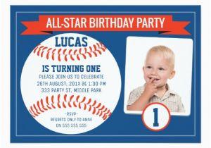 Baseball 1st Birthday Invitations Boys Baseball Sports 1st Birthday Party Invitation Zazzle