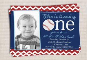 Baseball 1st Birthday Invitations Items Similar to First Birthday Baseball Party Printable
