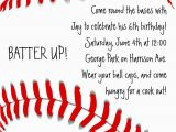 Baseball Birthday Invitation Wording Baseball Invitation Birthday by Cardsdirect