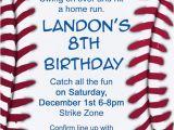 Baseball Birthday Invitation Wording Baseball Invitation by Makeitpersonalforyou On Etsy
