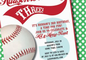 Baseball Birthday Invitation Wording 9 Party