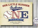Baseball themed First Birthday Invitations 1st Birthday Invitation Baseball Invite Boys 1st